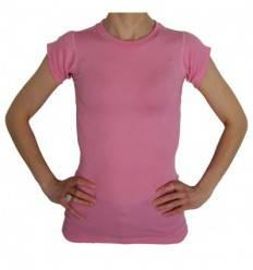 Tee-shirt sans couture pour corset rose