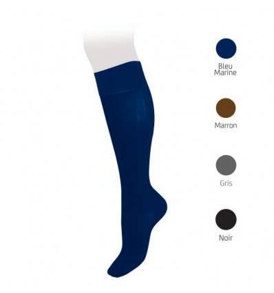 Chaussettes classe 2 VEINAX en coton bleu marine pour Homme