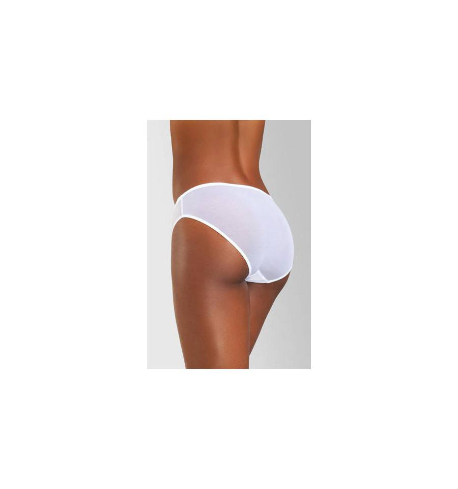 Slip lara lace blanc peau boutique proteor for Calecon avec slip interieur