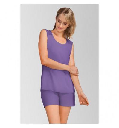 Pyjama short violet 1037 pour femme opérée
