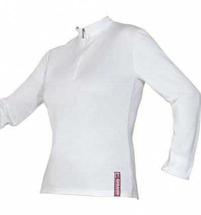 Tee-shirt technical wear femme manche longue blanc