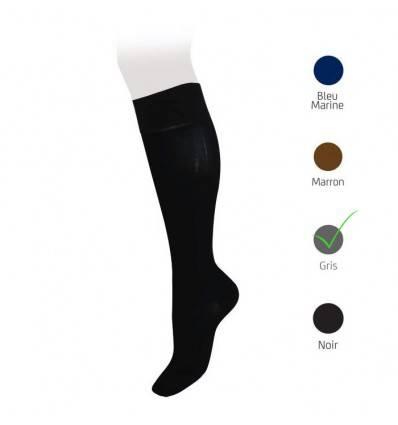 Chaussettes classe 2 VEINAX en coton gris pour Homme