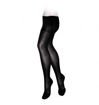Collants VEINAX fantaisie classe 2 noir (Grands losanges)