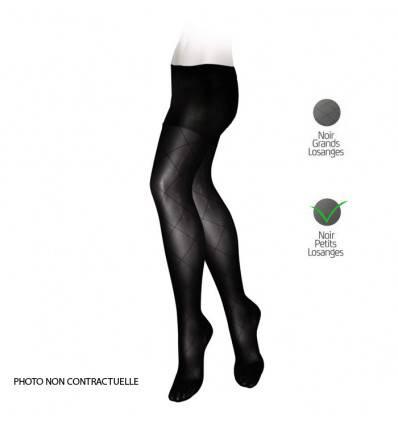 Collants VEINAX fantaisie classe 2 noir (Petits losanges)