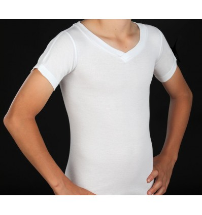 Tee-shirt pour corset col V manches courtes