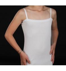 Tee-shirt pour corset blanc à bretelles