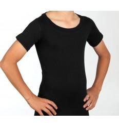 T-shirt pour corset col rond noir