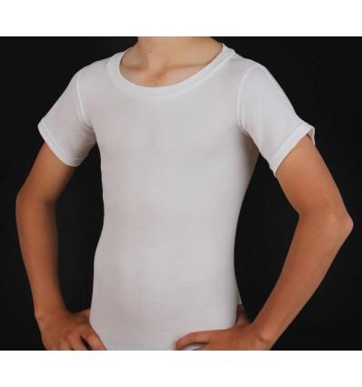 Tee-shirt pour corset col rond manches courtes