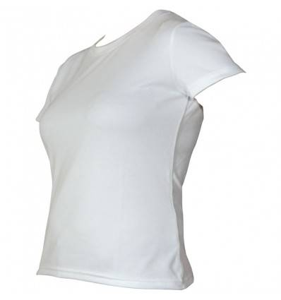 Tee-shirt technical wear femme manche courte blanc